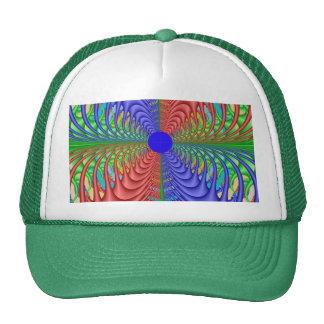 Wild Web Quad Fractal Trucker Hats
