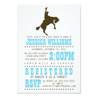 Wild West Baby Shower Card