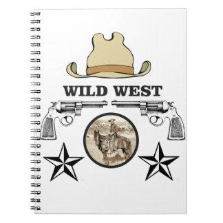 wild west cowboy art notebook