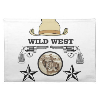 wild west cowboy art placemat