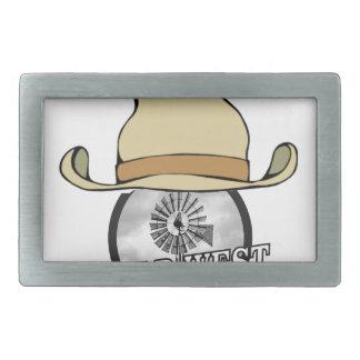 wild west cowboy art rectangular belt buckles