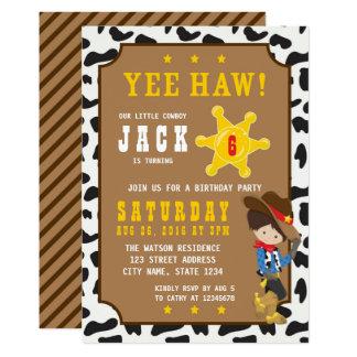 Wild West Cowboy Birthday Invitation