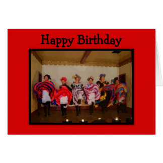 Wild West Dance Hall Girls Happy Birthday Card