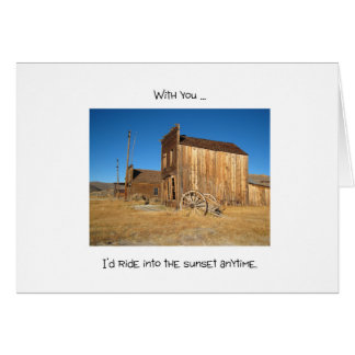 Wild West Ghost Town - Love Note Card