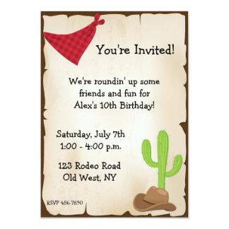 Wild West Invitation