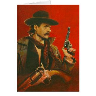 Wild West Lawman Greetings Card