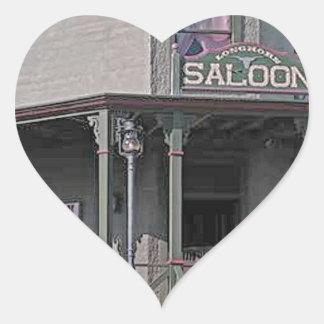 Wild West Saloon Heart Sticker
