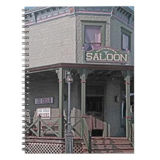 Wild West Saloon Spiral Notebook