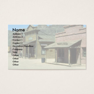 Wild west setting, Arizona Business Card