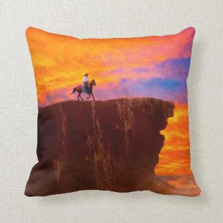 Wild West Sunsets Throw Pillow