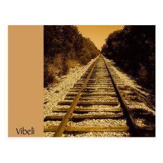 Wild West Train Track Post Card by Vibeli