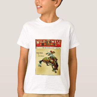 Wild West Weekly Bronc Rider Cowboy Kid's Shirt