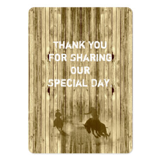 Wild west western wedding favor thank you tag large business card