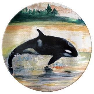 Wild Whale 27.3 cm Decorative Porcelain Plate