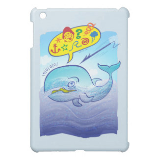 Wild whale saying bad words while fleeing harpoon case for the iPad mini