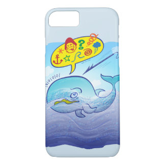 Wild whale saying bad words while fleeing harpoon iPhone 8/7 case