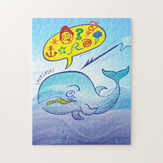 Wild whale saying bad words while fleeing harpoon jigsaw puzzle