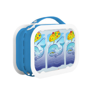 Wild whale saying bad words while fleeing harpoon lunch box