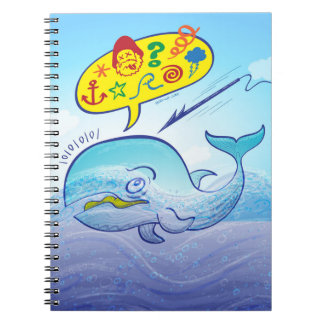 Wild whale saying bad words while fleeing harpoon notebooks