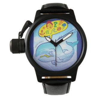 Wild whale saying bad words while fleeing harpoon wristwatch