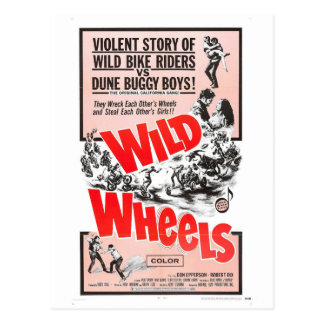 WILD WHEELS POSTCARD