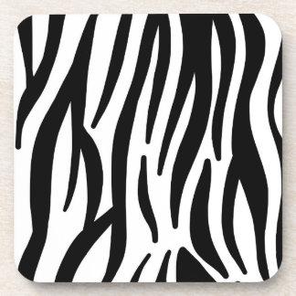 Wild white and black zebra skin print pattern coaster