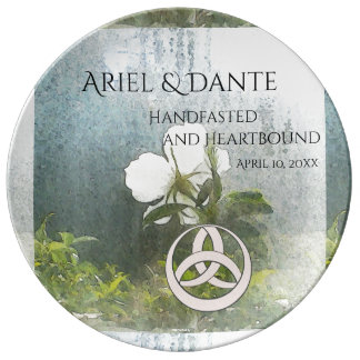 Wild White Rose Triquetra Handfasting  Ste Plate