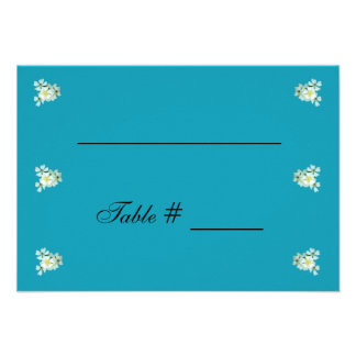Wild White Roses wedding place card Custom Invite