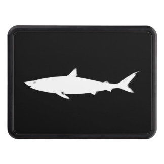 wild white shark trailer hitch cover
