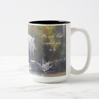 Wild White Stallion Coffee Mug