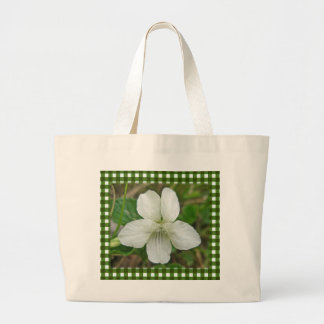 Wild White Violet Coordinating Items Large Tote Bag