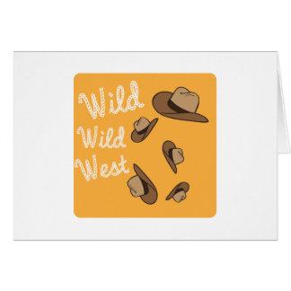 Wild Wild West Greeting Card