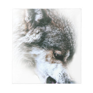 Wild Wolf Face Angry Eating Notepads