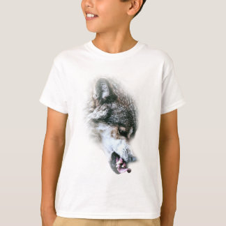 Wild Wolf Face Angry Eating T-Shirt