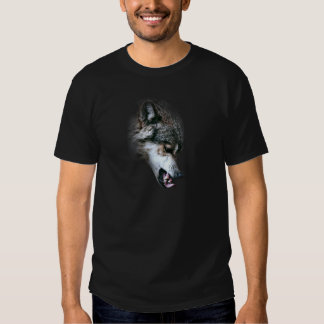 Wild Wolf Face Angry Eating T-shirts