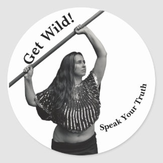 Wild Woman Fundraising Sticker for your notebook