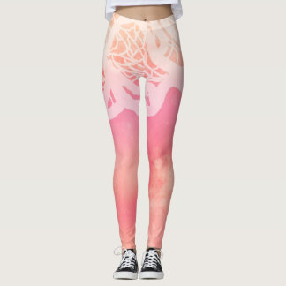 *~* Wild Woman Watercolor Lace Leggings