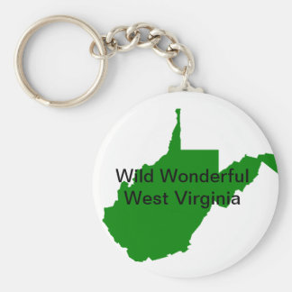 Wild Wonderful West Virginia Keychain