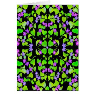 Wild Woodland Violets Card