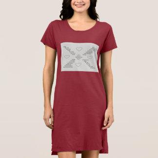 """Wild Words"" on T shirt dress / Poem, Typography"