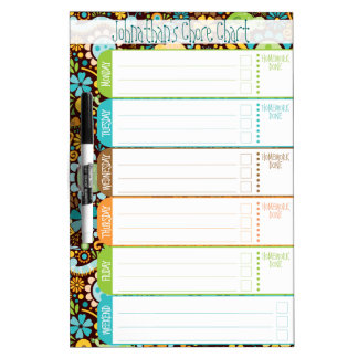 Wild World - Kids' To-Do List / Schedule / Chores Dry-Erase Whiteboard