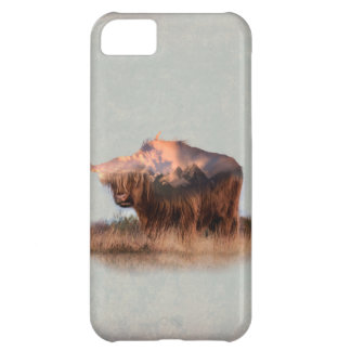 Wild yak - Yak nepal - double exposure art - ox Case-Mate iPhone Case
