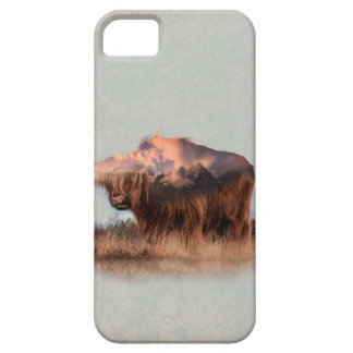 Wild yak - Yak nepal - double exposure art - ox iPhone 5 Case