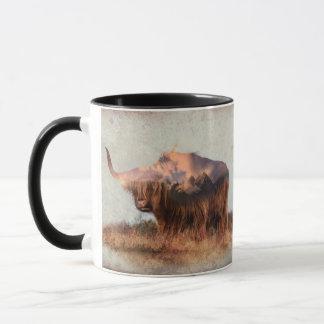 Wild yak - Yak nepal - double exposure art - ox Mug