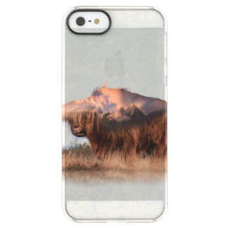 Wild yak - Yak nepal - double exposure art - ox Permafrost® iPhone SE/5/5s Case