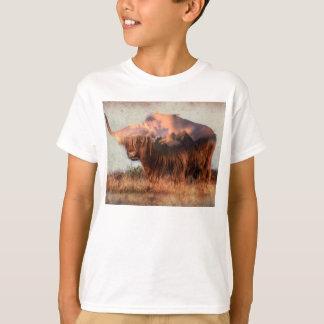 Wild yak - Yak nepal - double exposure art - ox T-Shirt