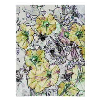 Wild Yellow Flowers by Lina 2013 Poster