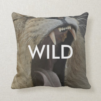 Wild (Young and Free) Throw Pillow