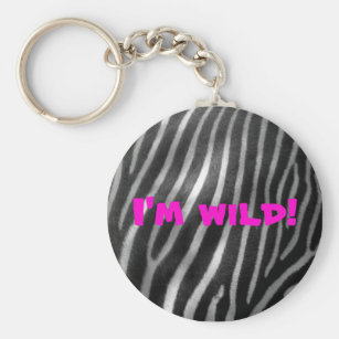 Zebra Background Keychains   Key Rings  aca9aff95