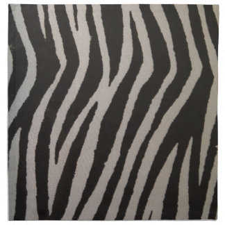 Wild Zebra Print Napkin